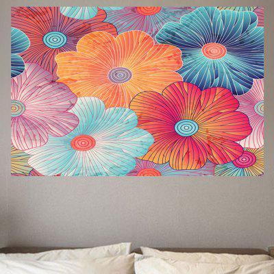 Lotus Leaves Printed Wall Art Sticker