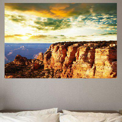 Cliff Sunset Peisaj Printed Wall Sticker