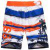 Tropical Print Water Sports Board Short - RED