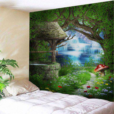 Forest Floral Path Print Tapestry Wall Hanging Decoration