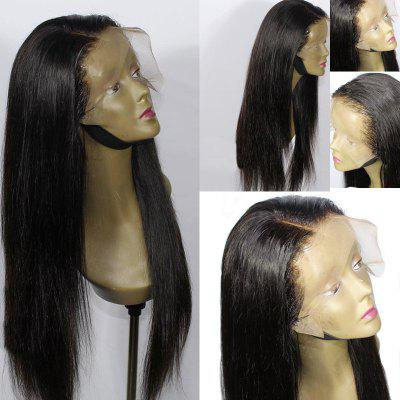 Long Side Parting Synthetic Straight Lace Front Wig