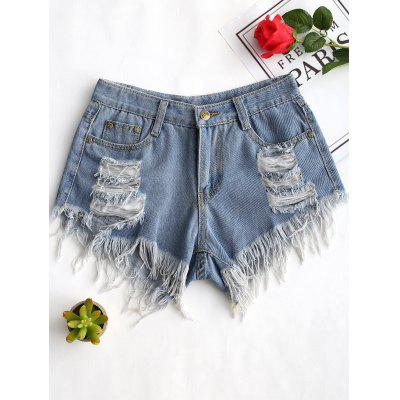 Ripped Frayed Hem Denim Shorts arte lamp потолочная люстра mantra bali 1217