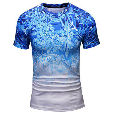 Crew Neck Shattered Ice Cool Tee