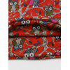 Funny Owl Pattern Embellished Slouchy Beanie - RED