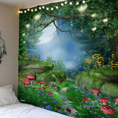 Fantastic Mushroom Forest Printed Bedroom Decor Hanging Tapestry