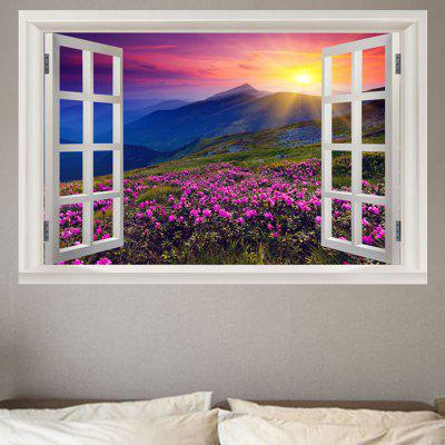 Window Sunshine Lavender Printed Environmental Removable Wall Sticker