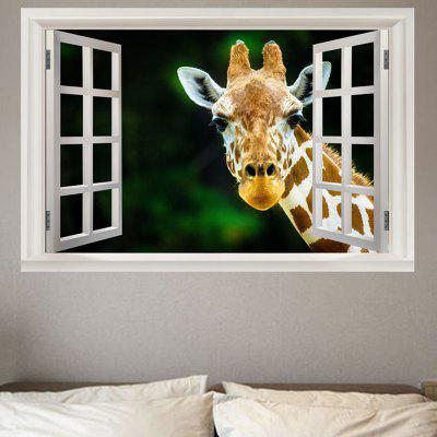 Giraffe Printed Decorative Wall Sticker