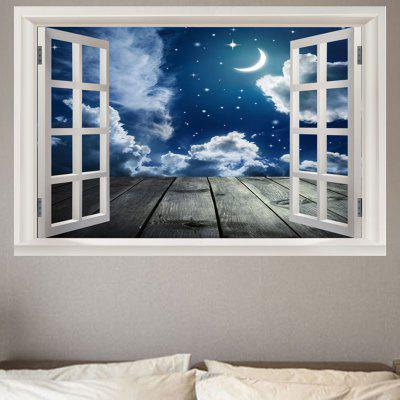 Starry Moon Night Printed Wall Sticker
