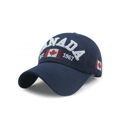 Canada Flag Pattern Embellished Adjustable Baseball Cap