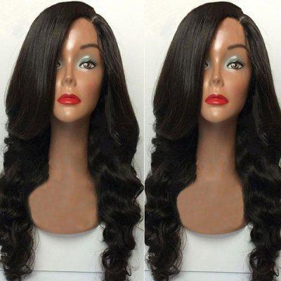 Long Capless Side Parting Body Wave Synthetic Wig