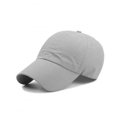 Outdoor Solid Color Pattern Breathable Baseball Hat