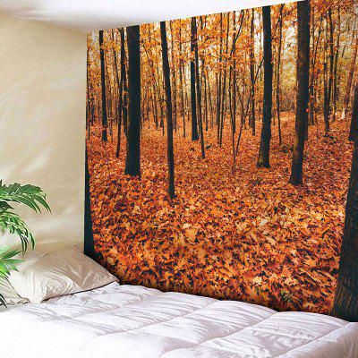 Autumn Forest Trees Fall Leaves Tapestry