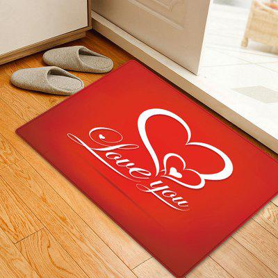 Dia dos Namorados Love You Pattern Floor Rug