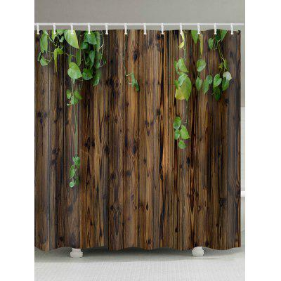 Creeper On Wood Wall Print Waterproof Bath Shower Curtain