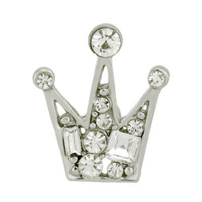 Various Faux Diamond Inlay Crown Shape Brooch Pin