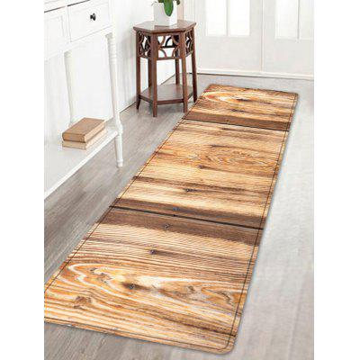 Woodgrain Pattern Anti-skid Water Absorption Area Rug