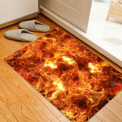 Sea of Fire Pattern Indoor Outdoor Area Rug