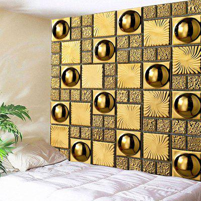 Gloden Wall with Ball Print Wall Hanging Tapestry
