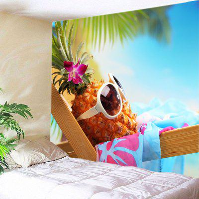 Pineapple Sunglass Beach Holiday Wall Decoration Tapestry