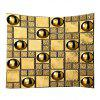 Gloden Wall with Ball Print Wall Hanging Tapestry - GOLDEN