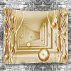 3D Passway con Butterfly Ball Print Wall Hanging Tapestry - ORO