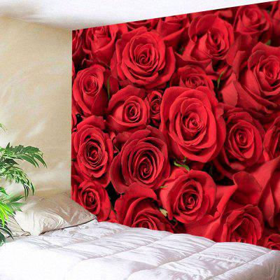 Valentines Day Roses Print Wall Art Tapestry