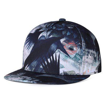 Unique Crow Pattern Embellished Adjustable Baseball Hat