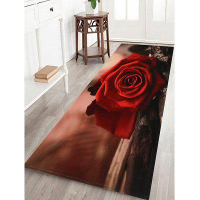 Valentine's Day Delicate Roses Printed Floor Area Rug