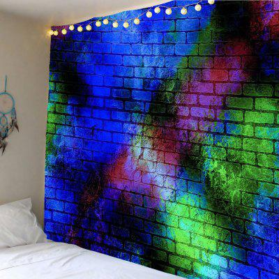 Colorful Brick Wall Printed Decorative Tapestry