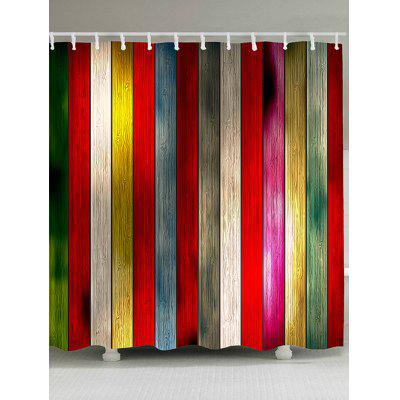 Colorful Plank Printed Shower Curtain