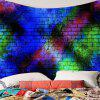 Colorful Brick Wall Printed Decorative Tapestry - COLORFUL