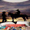 West Cowboys Printed Wall Art Tapestry - COLORMIX