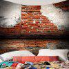 Broken Brick Wall Printed Tapestry - BRICK-RED