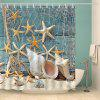 Impermeável Starfish e Shell Printed Bath Shower Curtain - COLORMIX