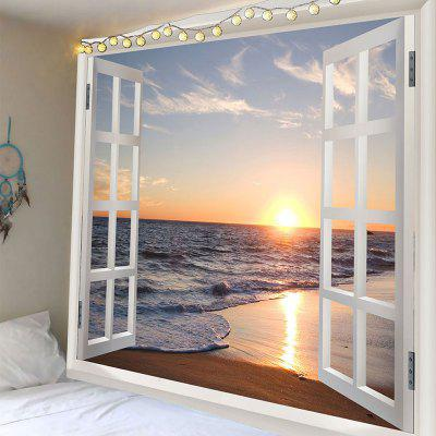 Waterproof Sunset Seascape Beach Print Wall Tapestry