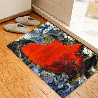 Ablaze Rock Cave Pattern Indoor Outdoor Rug