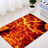 Lava Pattern Indoor Outdoor Area Rug - FLAME RED