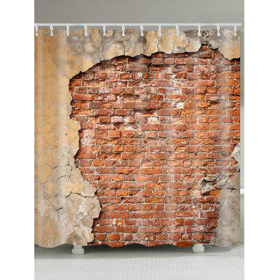 Broken Brick Wall Waterproof Shower Curtain