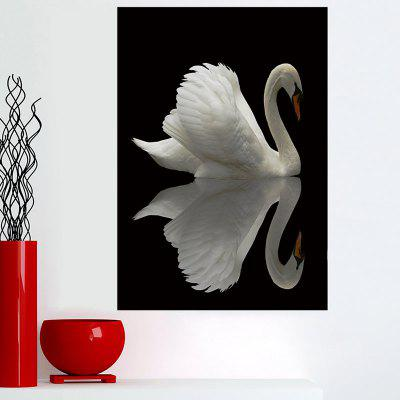 Shadow Swan Print Sticky Wall Art Painting