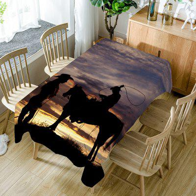 West Cowboys Pattern Table Cloth