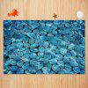 Pebbles In The Water Pattern Non-slip Floor Area Rug - LAKE BLUE