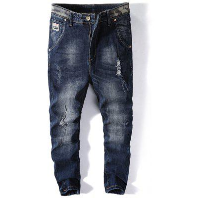 Jeans Jogger Ripped parcheados