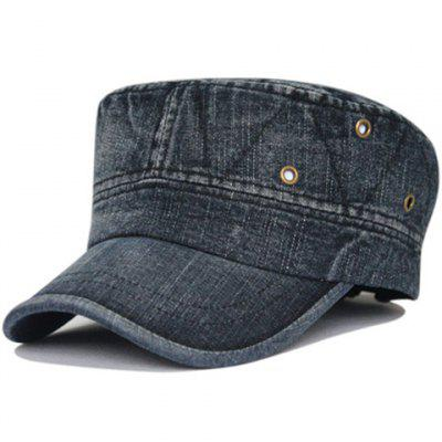 Soft Line Embroidery Washed Army Hat