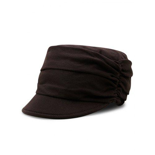 1d04cc086 Solid Color Pleated Embellished Flat Top Hat