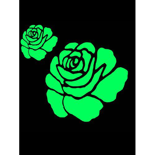 rose flower glow in the dark wall sticker - $1.90 free shipping