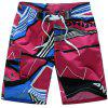 Color Block Quick Dry Board Shorts - RED