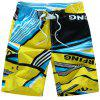 Color Block Quick Dry Board Shorts - YELLOW