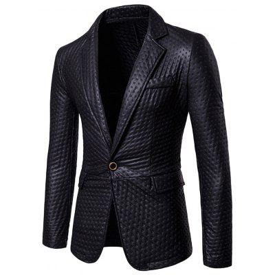 Male Fashion Metallic Color One Button Flap Pocket Club Blazer Design Jacket Coat