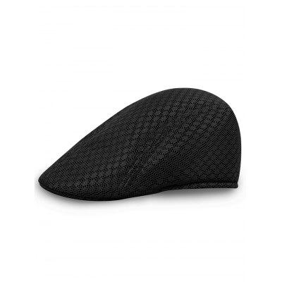 Solid Color Pattern Mesh Newsboy Hat