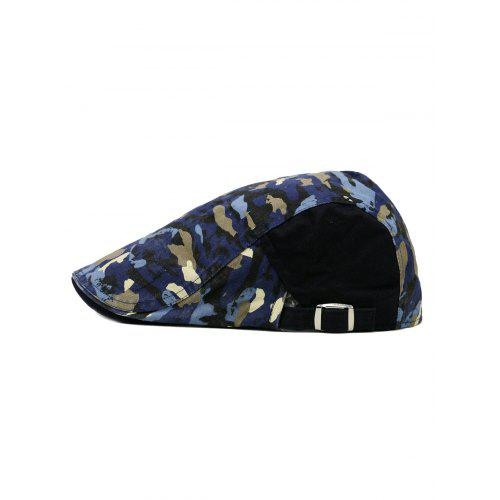 4077a0ea087 Unique Colored Camo Pattern Embellished Newsboy Hat